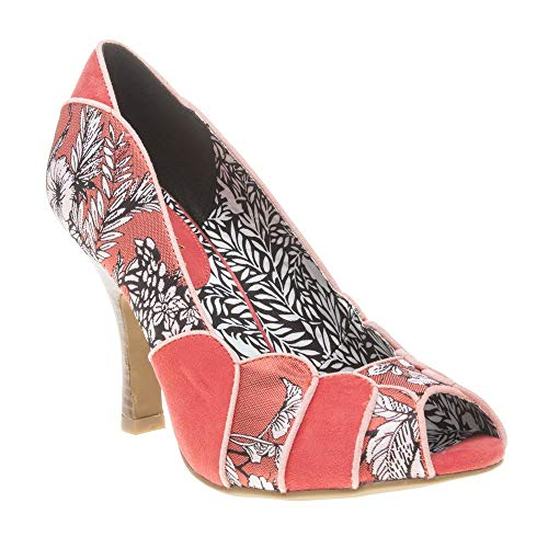 Ruby Shoo Matilda Burnt Orange Womens Open Toe Heels