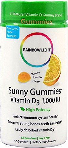 RAINBOW LIGHT SUNNY GUMMIES,VIT D 1000, 50 CT