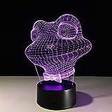 orangeww 3d Optical Illusion Lampe de table / 7 Changement de couleur/lampe...