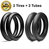 3.00/3.50-12 Dirt Bike Replacement Inner Tubes and Tires (Set of 2) for Honda Crf/Xr 50 70, Kawasaki KLX 110 / Yamaha TTR 90 110 / Suzuki DRZ 110 / TAOTAO | Fits on Most 90/110/125cc Pit Dirt Bikes