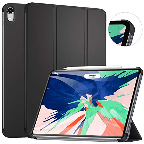 Ztotop Hülle für iPad pro 11 2018, Ultra dünn smart Trifold Stand Schutzhülle Cover Case mit Auto Aufwachen/Schlaf,Stift-Ladeanschluss für iPad Pro 11 Zoll,A1980 A1934 A2013 A1979, Schwarz