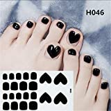 Xisheep Nail Art for Women, Toe Nail Sticker Art Stickers Decal Tips Manicure, DIY Hot Stamping Nail Foil (D)