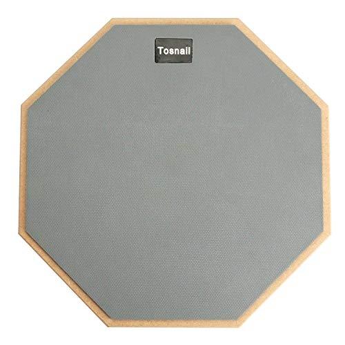 Tebery Pad per Allenamento da 12 inch Drum Pad pratica, per principianti, su un lato, colore: grigio