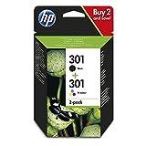 HP 301 2-pack Black/Tri-colour Original Ink Cartridges Combo pack N9J72AE