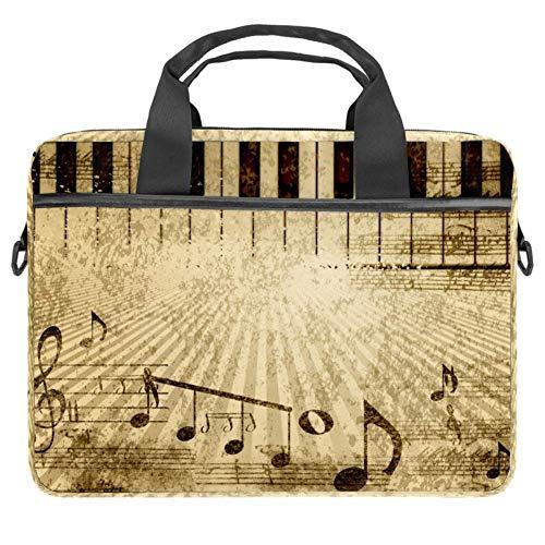 LORVIES Musik-Papier mit Noten, singt Laptoptasche, Schultertasche, Messenger-Tasche, Business-Tasche, Tragetasche für 35,6 bis 39,1 cm Laptops