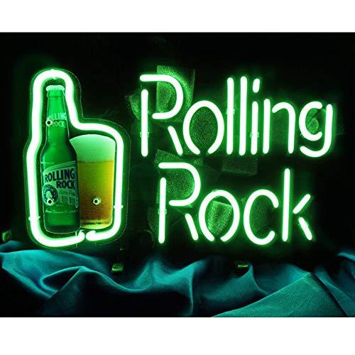 Cartel luminoso con mensaje neón para la cerveza, bares, pub, garaje, habitaciones