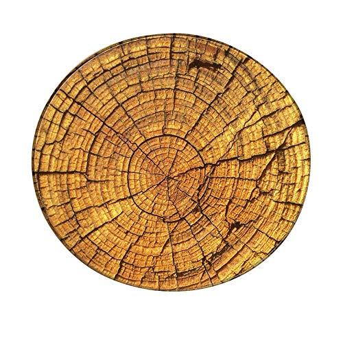 YWLINK Creativo Antideslizante Durable De Grano De Madera Alfombra Redonda Juego De Alfombra para NiñOs Juego para NiñOs Alfombra Redonda Sala De Estar Estera De Yoga 60 Cm (60cm, A)