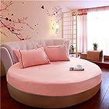 HPPSLT Protector de colchón/Cubre colchón Acolchado de Fibra antiácaros, Transpirable, Cama Redonda de algodón Color sólido Engrosamiento-Jade Color 1_2m