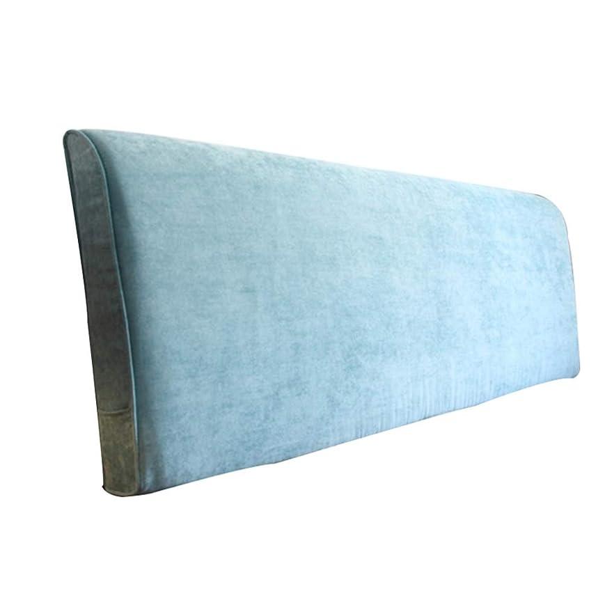 州物思いにふける郵便番号LIXIONG クッション ベッドの背もたれ家庭 ダブル なしで ヘッドボード 布張り パッド ベッドサイド 読み物 枕 ソファー 背もたれ 洗える、 4色 (Color : Blue-A, Size : 180x10x58cm)