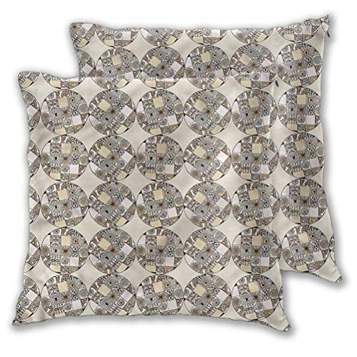 Youdeem-home Cushion Cases Pillowcases Native Geometric Circles for Room Bedroom Room Sofa Chair Car 22' x 22' | Set of 2 (Insert Not Included)