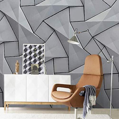 Moderne 4D Muurpapieren voor Muren Cement,Wallpapers Stereoscopische Grijs muurschildering Slaapkamer Woonkamer, Decoratieve Wallpapers 208cm(W) x146cm(H)