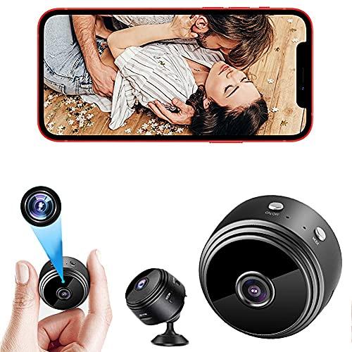 POTIKA 1080P HD IP Mini Spy Camera Wifi Com Base Magnética, Câmera Oculta Com áudio, Câmeras Domésticas Com Aplicação Para Visão Remota Do Telefone, Câmeras Pequenas Escondidas Sem Fio, Preto