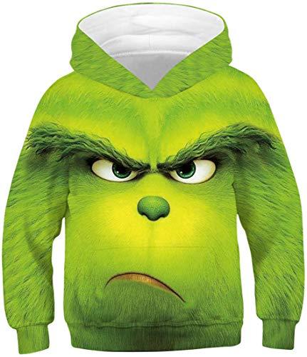 Chaos World Jungen 3D Druck Kapuzenpullover Weihnachten Kinder Sweatshirts Hoodie Mit Kapuze Langarm Mit Taschen (Wütend1,S)