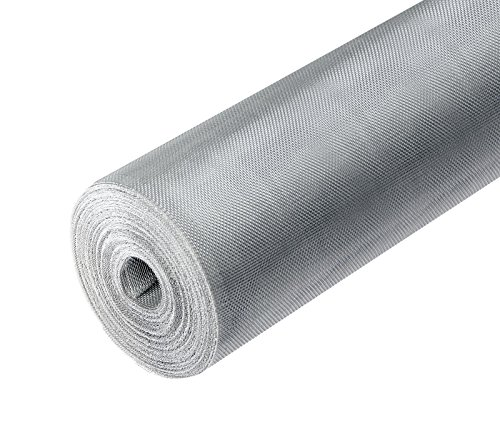 ONPIRA Fliegennetz Meterware aus Eisen Verzinkt/Aluminium/Edelstahl 0,8m / 1m /1,2m (0,8m / Aluminium)