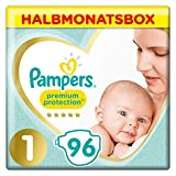 Pampers Premium Protection New Baby Windeln, Gr. 1 (2–5 kg), 96 Windeln