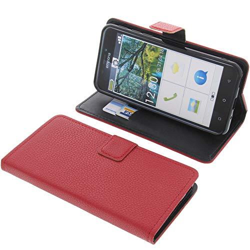 foto-kontor Tasche für Emporia Smart 3 Book Style rot Schutz Hülle Buch