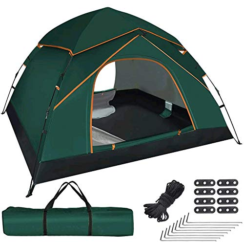GEEDIAR Pop Up Tent for 3-4 Person,Automatic Instant Portable Dome Tent Water-resistant & UV Protection Sun Shelter Camping Tent with Carrying Bag