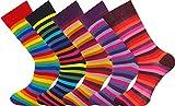 MySocks 5 Paar Herren Socken Streifen Extra feine gekämmte Baumwolle Größe 40-45