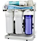iSpring RCS5T 500GPD Commercial Tankless Reverse Osmosis RO Water Filter System with 1:1 Drain Ratio