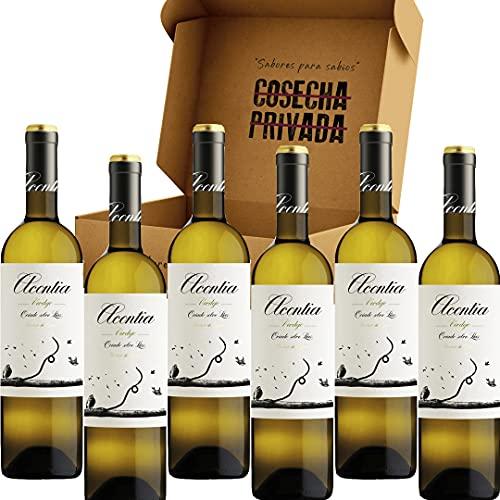 Acontia Mar de Seda - Envío Gratis 24 H - 100% Verdejo - Caja de 6 Botellas - Vino Blanco - Seleccionado y enviado por Cosecha Privada