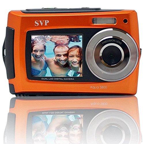 """SVP 2.7"""" Dual Screen Orange Aqua5800 Underwater Camera"""