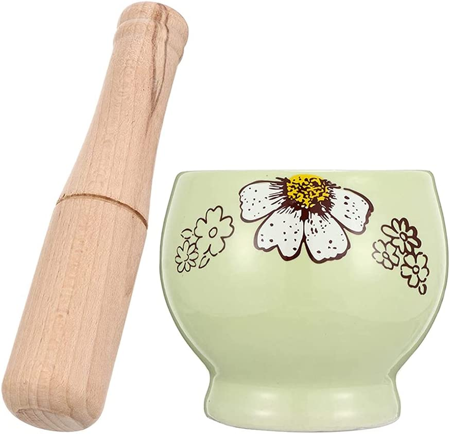 JJINPIXIU Mortar and Max 52% OFF Pestle Porcelain Gr Polished Guacamole Luxury goods Bowl