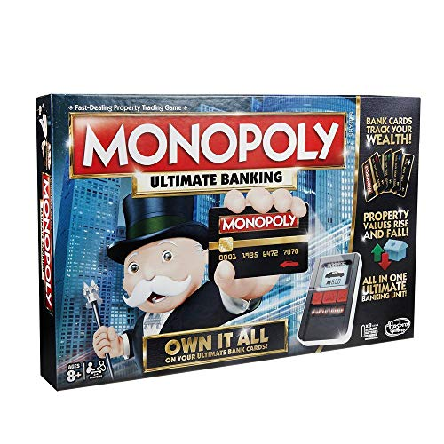 Monopoly Game: Ultimate Banking Edition Board Game, Electronic Banking Unit, Game For Families And Kids Ages 8 And Up