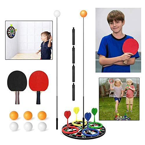 Find Discount Table Tennis Trainer Elastic Shaft Ping Pong Training with Darts or Seats for Kids Adu...