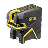 Stanley Scpr5 Cross Laser Level   5 Points Fatmax Range - Red Beam - Range up to 50 with Detection Cell (Not Included) - Delivered in Tstak Case with 3 Accessories and Batteries