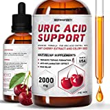 Uric Acid Support - Tart Cherry Extract for Joint Health - Liquid Supplements for Uric Acid Control and Great Kidney Function - Pain Relief and Daily Joint Support (2 Fl Oz)