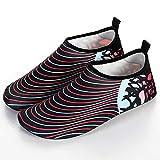 Calcetines de Buceo Hombres y mujeres de playa al aire libre del salto zapatos Yoga de la playa Correr zapatos inferiores suaves antideslizantes Fácil Ajuste Calzado ( Color : Red , Size : 42-43 )