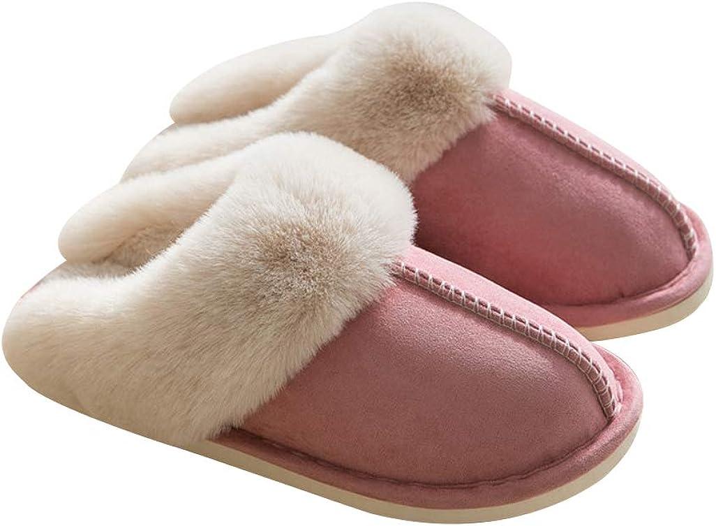 Women's Fuzzy Fluffy Furry Fur Slippers Open Toe Cozy House Memory Foam Flat Spa Slide Slippers Soft Flat Comfy Anti-Slip Shoes Sandals