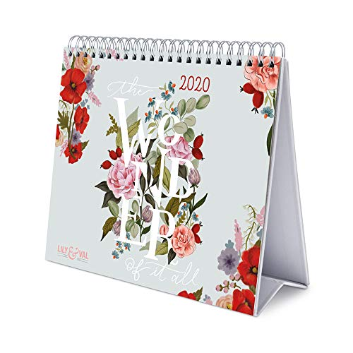 ERIK - Lily & Val 2020 Desk Calendar - 12 Months