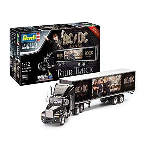 Revell- Set de Regalo AC/DC Tour Truck Rock Or Bust Camionetas ACDC Kit Modelo, Multicolor (07453)