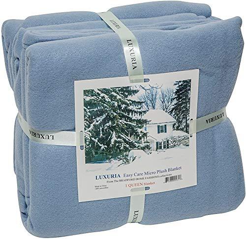 Elaine Karen Royal Luxury Micro Plush Fleece Bed Blanket - Soft, Warm and Cozy, Lightweight,...