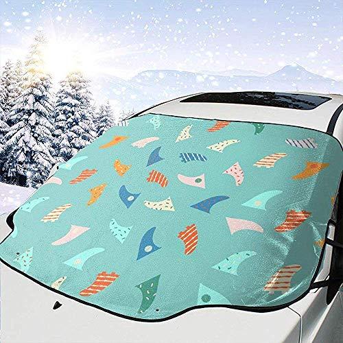 JONINOT Cubierta del Parabrisas Tabla de Surf Aleta Parabrisas Cubierta de Nieve Nieve Hielo Frost Protección Completa UV Apto para la mayoría de vehículos SUV CRV Van o automóvil