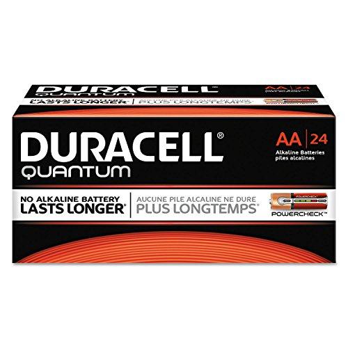 Duracell QU1500BKD Quantum Alkaline Batteries, AA, 24/BX
