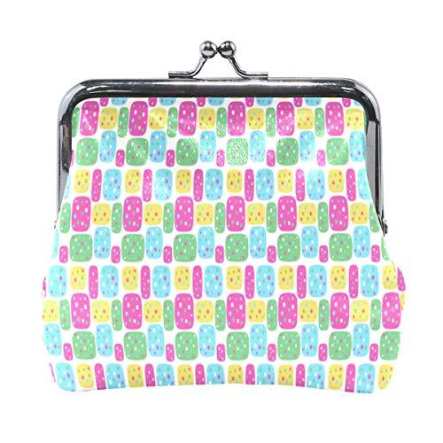 XiangHeFu portefeuille vrouwen portemonnee regenboog cijfers patroon clutch tas leder