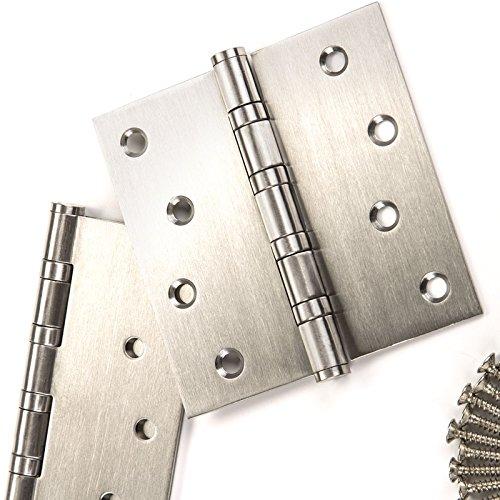 2 Stück SO-TOOLS® Schwerlast Aufschraubbänder/Tragkraft 60 kg/Materialstärke 2,5 mm / 100 x 75 mm/Aufschraub-Scharnier aus Edelstahl/Türscharnier Türbänder mit wartungsfreien Gleitlagern