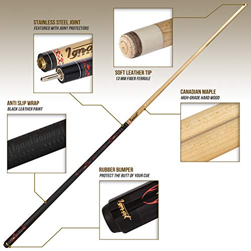 IgnatGames 2-Pieces Pool Cue Stick - 58