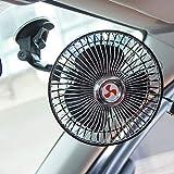 huihuijia Ventilador EléCtrico para AutomóVil Ventilador para AutomóVil Ventilador De Cabeza Vibrante AutomáTico De 6 Pulgadas Ventilador De Ventosa Giratorio 360 12v