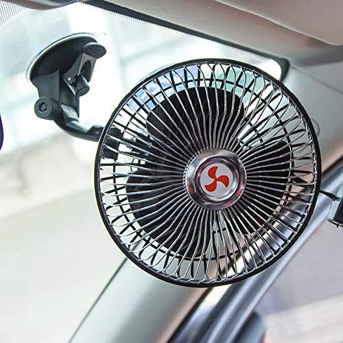 huihuijia Ventilador EléCtrico para AutomóVil Ventilador para AutomóVil Ventilador De Cabeza Vibrante AutomáTico De 6 Pulgadas Ventilador De Ventosa Giratorio 360 24v