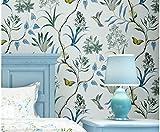 Papel pintado de flores y pájaros fresco dormitorio pastoral sala de estar TV fondo pared porche papel pintado no tejido