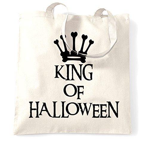 King of Halloween Spooky Scary Kostüme Cool Creepy Royal Crown Knochen Skelett Ghost Vampir Hexe Süßigkeiten Shopping Tasche von Valentine herty