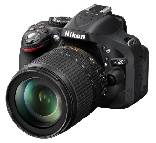 Nikon D5200 SLR-Digitalkamera (24,1 Megapixel, 7,6 cm (3 Zoll) TFT-Display, Full HD, HDMI) Kit inkl. AF-S DX 18-105 mm VR Objektiv schwarz