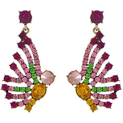 Ai.Moichien Pendientes Colgantes De Diamantes De Imitación Mujeres Mariposa Delicada Chapada En Oro Regalos De Joyería De Fiesta