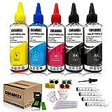 COCADEEX Botella de tinta de repuesto compatible con cartuchos de tinta Hp 301 o 301XL, para Deskjet 1000,1050,1055,2050,2510,2541,2549,3000,3050,3051A,3055A, Envy 4501 4505 4508 5530 5535 Impresora