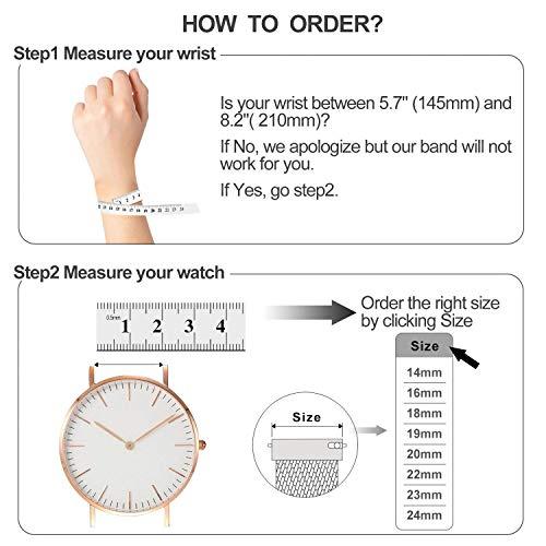 『時計バンド ベルト、 Fullmosa 全6色 Smart watch バンド マグネット式 腕時計バンド ベルト ウォッチバンド ミラネーゼ メッシュバンド 交換ベルト』の3枚目の画像