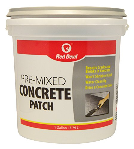 Red Devil 0641 Pre-Mixed Concrete Patch, 1 Gallon, Pack of 1, Gray