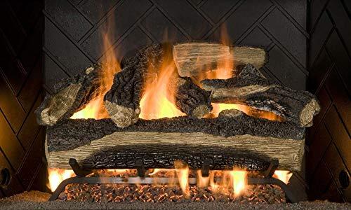 Sure Heat MO24DBRNL-60 Vented Gas Fireplace Logs, 24', Charred Oak
